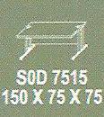 Meja Kantor Modera SOD 7515 ( S Class )