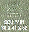 Meja Kantor Modera SCU 7481 ( S Class )