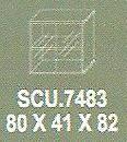 Meja Kantor Modera SCU 7483 ( S Class )