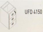 Meja Kantor Uno ( Drawer ) UOD 4150 ( Gold Series )