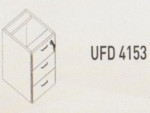 Meja Kantor Uno ( Hanging Drawer ) UFD 4153 ( Gold Series )