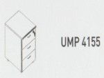 Meja Kantor Uno ( Mobile Drawer ) UFD 4155 ( Gold Series )