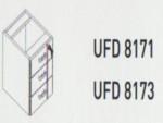 Meja Kantor Uno ( Hanging Drawer ) UFD 8173 ( Lavender Series )