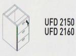 Meja Kantor Uno ( Side Desk & Drawer ) UOD 2150 & UOD 2160 ( Platinum Series )