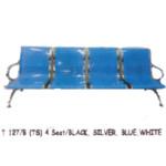 Kursi Tunggu Tiger T 127 B (TS) – 4 Seat Silver, Blue, White
